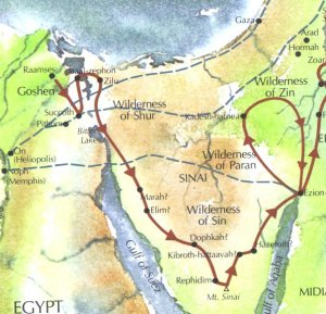 The Exodus Apostasy - Map of egypt red sea area